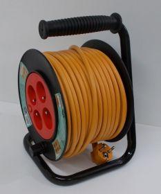 Prodlužovací kabel,navíjecí buben, 25 metrů,4zásuvky , 1 kus