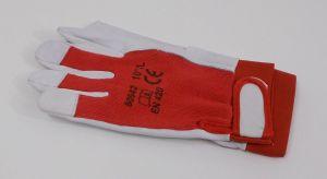 Rukavice mechanik jemné, velikost 10 , bavlna / kozí kůže, 1pár