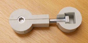 Svorník PD plast šedý/kov, rozměry 35/64 mm, bal=1sada