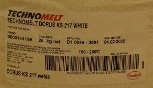 Tavné lepidlo Dorus-technomelt KS 217 ,barva BÍLÁ, balení=pytel 25kg