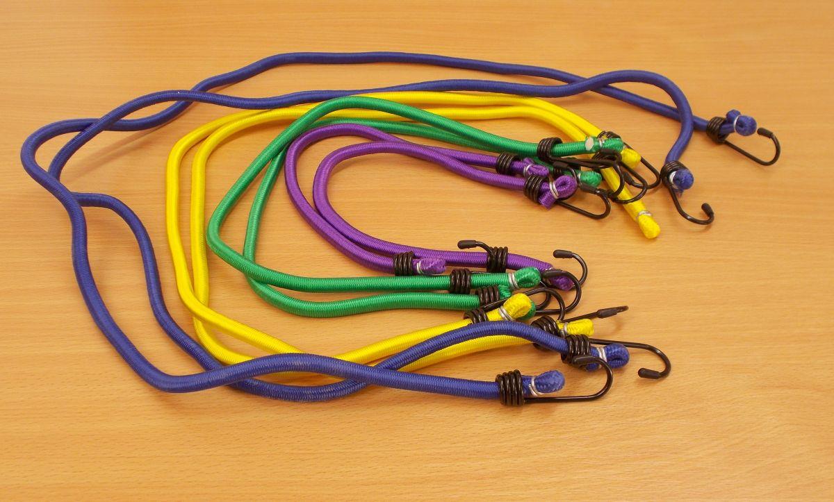 Upínací popruhy pavouk Set 8 ks,různé délky,různé barvy