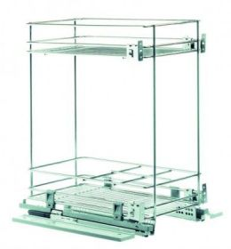 Výsuvný dvojkoš,VIBO,plnovýs. quadro s tl., 300mm, pro sp. skříňku